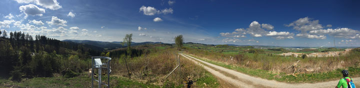 Panorama am Trailground Brilon